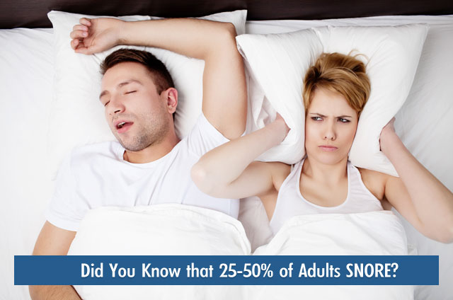 25-50 percent of adults snore