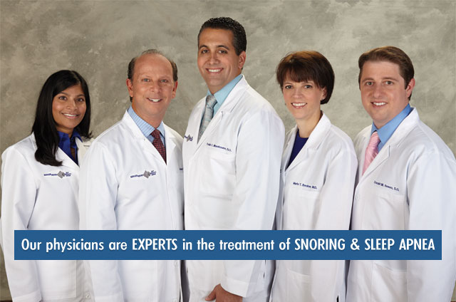 PSSI physicians are experts in the treatment of snoring and sleep apnea
