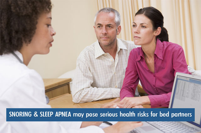 snoring and sleep apnea may pose serious health risks to bed partners